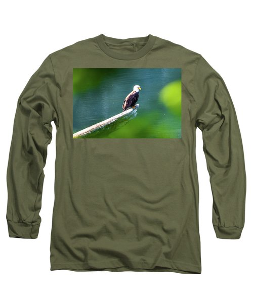 Eagle In Lake Long Sleeve T-Shirt
