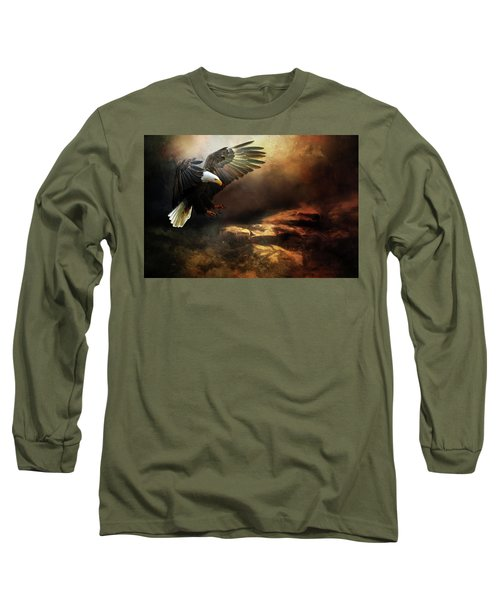 Eagle Is Landing Long Sleeve T-Shirt