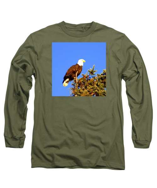 Long Sleeve T-Shirt featuring the photograph Eagle by Jerry Cahill