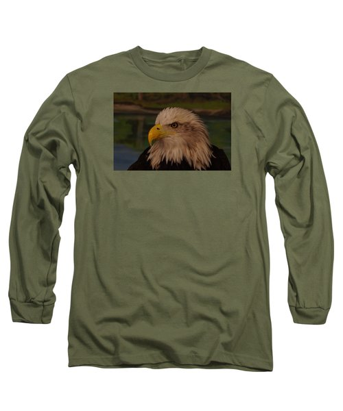 Eagle  Long Sleeve T-Shirt by Steven Clipperton