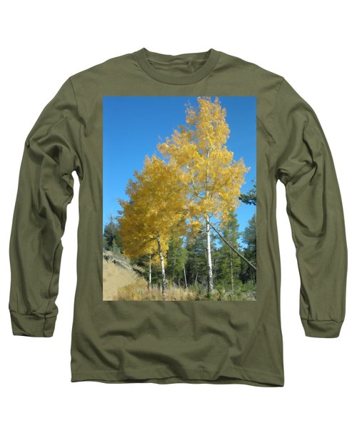 Early Autumn Aspens Long Sleeve T-Shirt