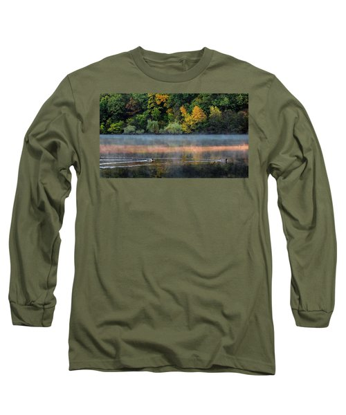 Early Autumn Morning At Longfellow Pond Long Sleeve T-Shirt