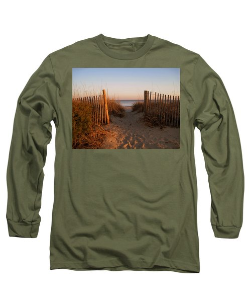 Early Morning At Myrtle Beach Sc Long Sleeve T-Shirt by Susanne Van Hulst