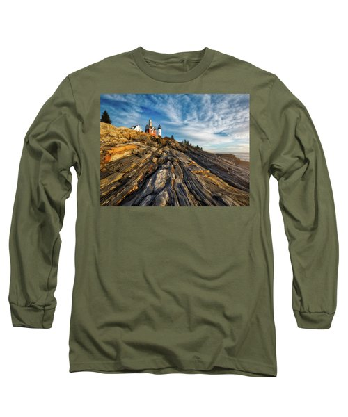 Long Sleeve T-Shirt featuring the photograph Early Morning At Pemaquid Point by Darren White