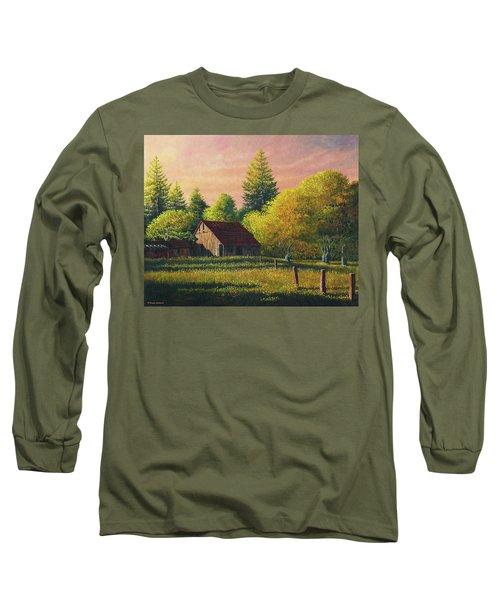 Early Morning Farm Long Sleeve T-Shirt