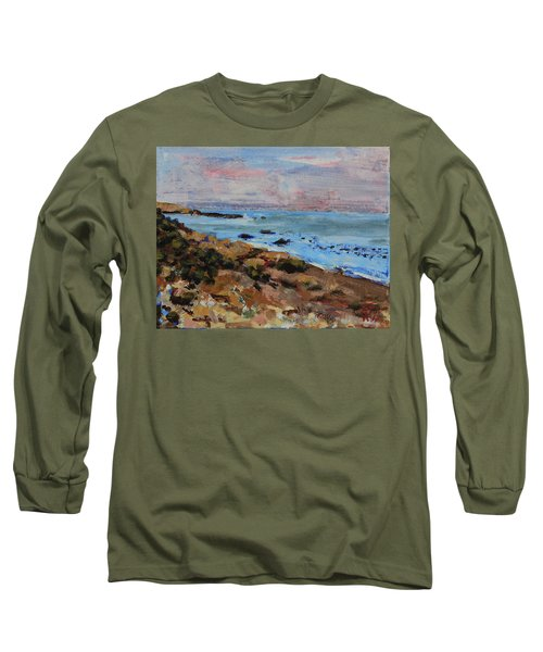 Long Sleeve T-Shirt featuring the painting Early Morning Low Tide by Walter Fahmy