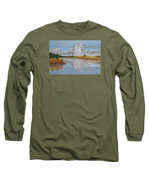 Early Snowfall At Oxbow Long Sleeve T-Shirt