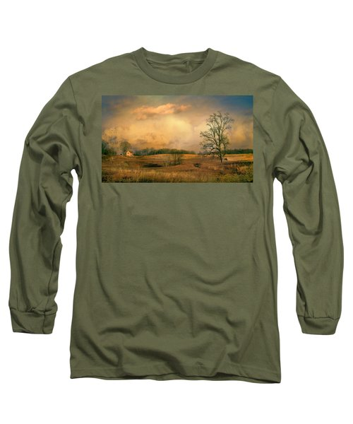 Early Spring Storm Long Sleeve T-Shirt by John Rivera