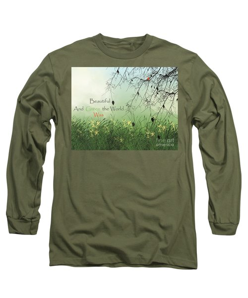 Earth Day 2016 Long Sleeve T-Shirt by Trilby Cole