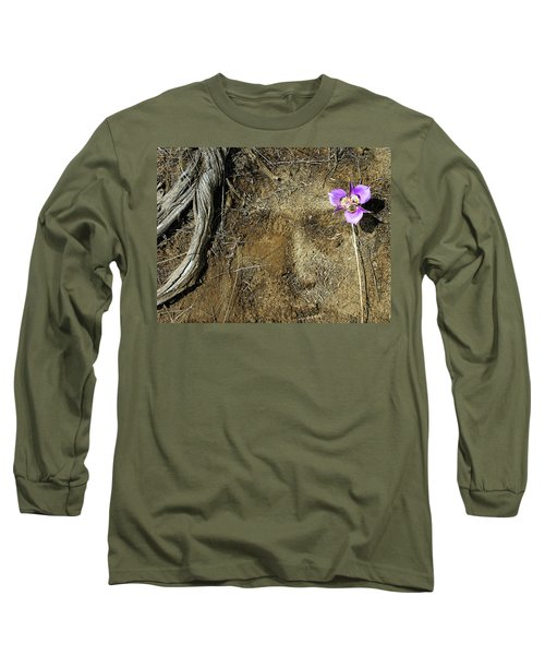 Long Sleeve T-Shirt featuring the photograph Earth Memories-desert Flower # 1 by Ed Hall