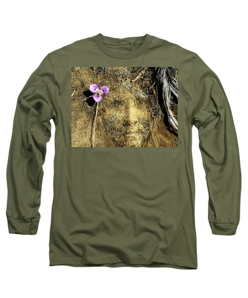 Long Sleeve T-Shirt featuring the photograph Earth Memories - Desert Flower # 2 by Ed Hall
