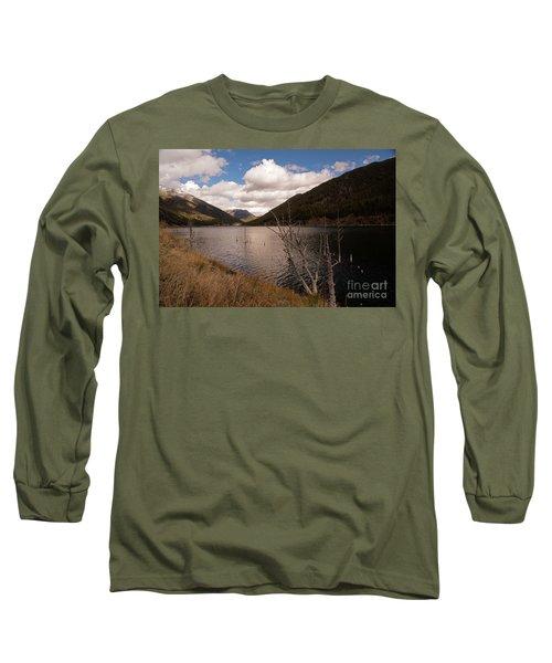 Earthquake Lake Long Sleeve T-Shirt by Cindy Murphy - NightVisions