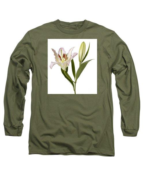 Easter Lilly Long Sleeve T-Shirt by Tony Cordoza