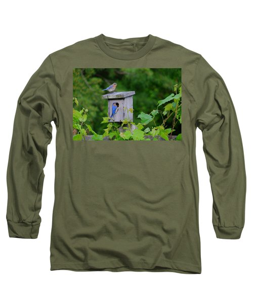 Eastern Bluebird Pair Long Sleeve T-Shirt