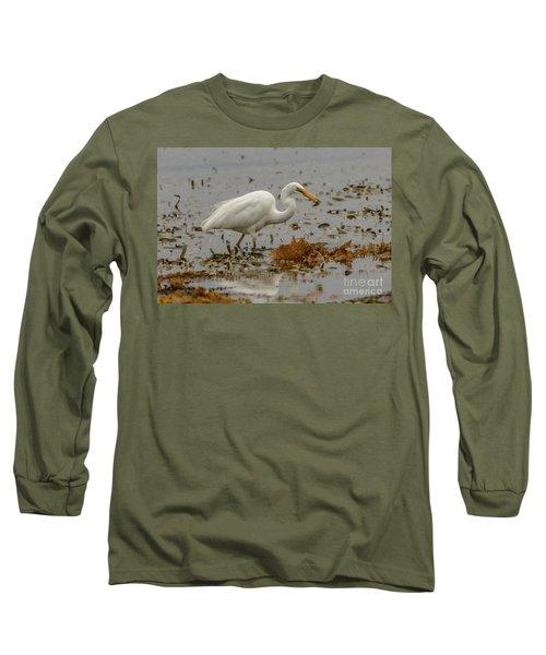 Eastern Great Egret 10 Long Sleeve T-Shirt