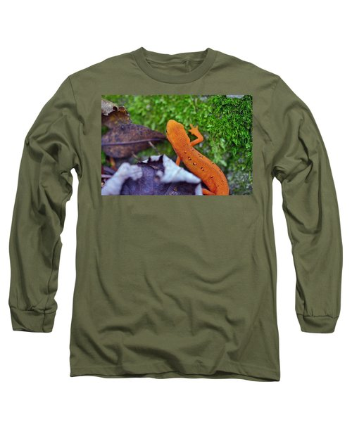 Eastern Newt Long Sleeve T-Shirt by David Rucker