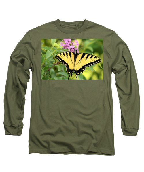Eastern Tiger Swallowtail Butterfly Long Sleeve T-Shirt by Sheila Brown