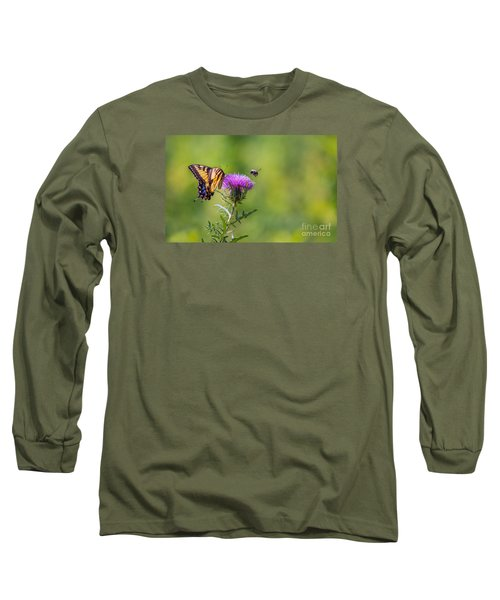 Eastern Tiger Swallowtail Long Sleeve T-Shirt by Rima Biswas