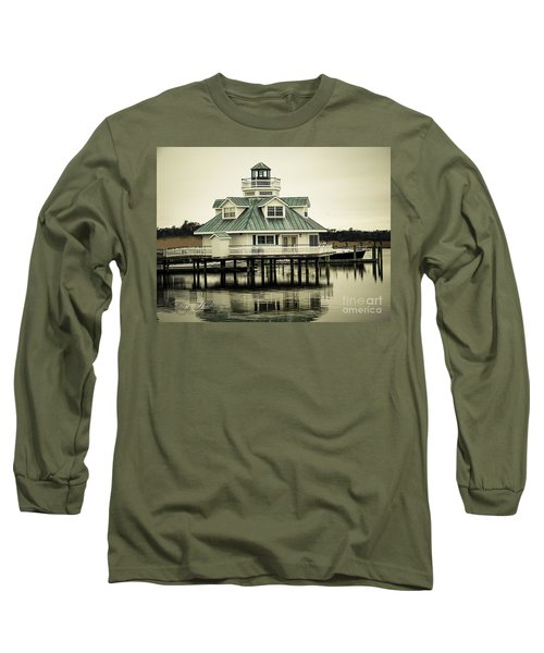 Eating On The River Long Sleeve T-Shirt by Melissa Messick