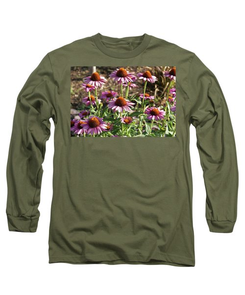 Echinacea Long Sleeve T-Shirt by Cynthia Powell