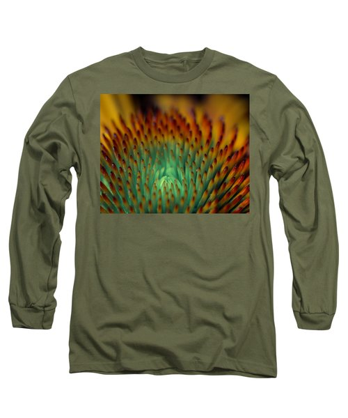 Echinacea Macro Long Sleeve T-Shirt