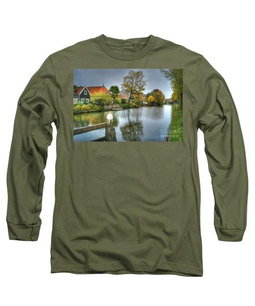 Edam Waterway In Holland Long Sleeve T-Shirt