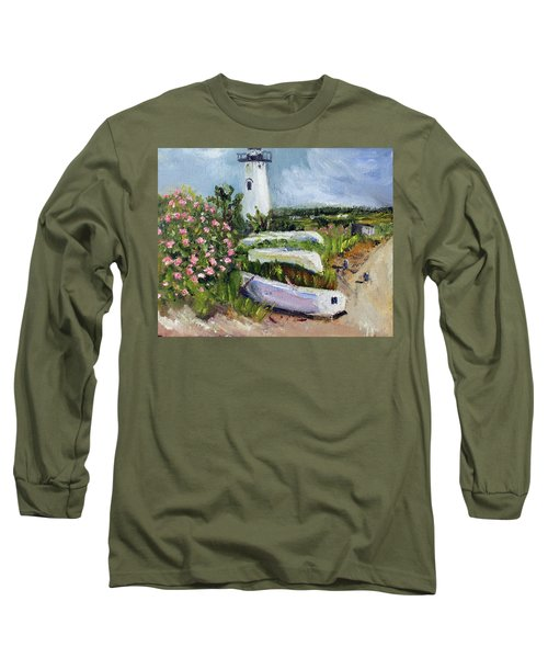 Edgartown Light And Her Entourage Long Sleeve T-Shirt by Michael Helfen