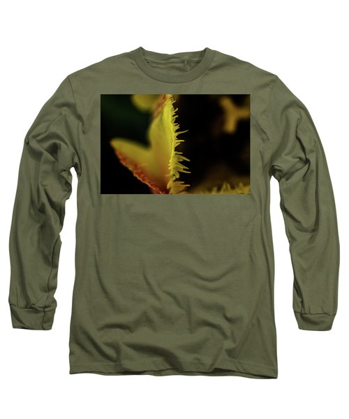 Long Sleeve T-Shirt featuring the photograph Edge Of The Tulip by Jay Stockhaus