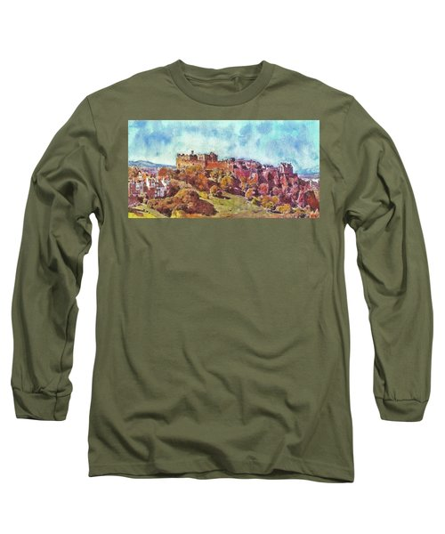 Edinburgh Skyline No 1 Long Sleeve T-Shirt by Richard James Digance