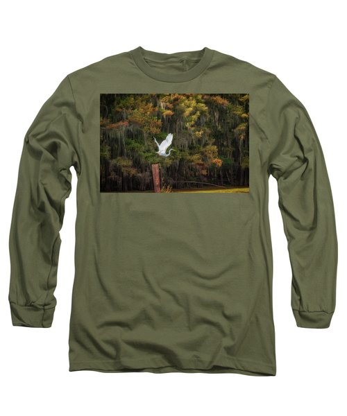 Egret Sanctuary Long Sleeve T-Shirt