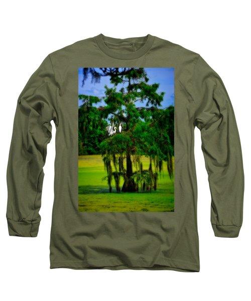 Egret Tree Long Sleeve T-Shirt