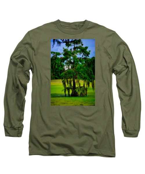 Long Sleeve T-Shirt featuring the photograph Egret Tree by Harry Spitz
