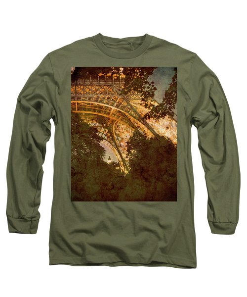 Paris, France - Eiffel Oldplate II Long Sleeve T-Shirt