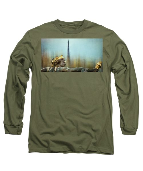 Eiffel Tower 1 Long Sleeve T-Shirt by Marty Garland