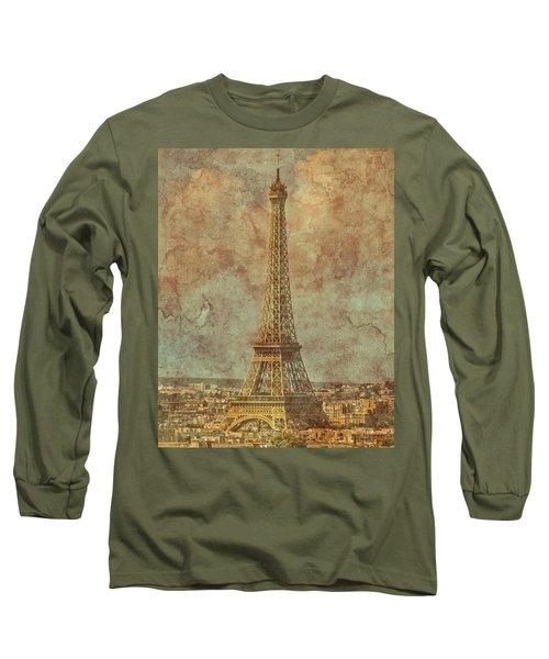 Paris, France - Eiffel Tower Long Sleeve T-Shirt