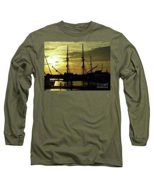 El Galeon Sunrise Long Sleeve T-Shirt by D Hackett