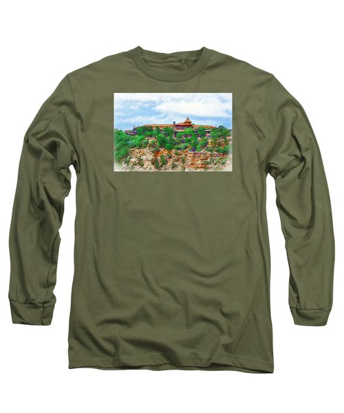 El Tovar At The Grand Canyon Long Sleeve T-Shirt by Kirt Tisdale