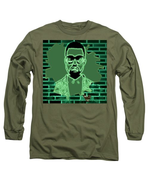 Electric Kanye West Graphic Long Sleeve T-Shirt