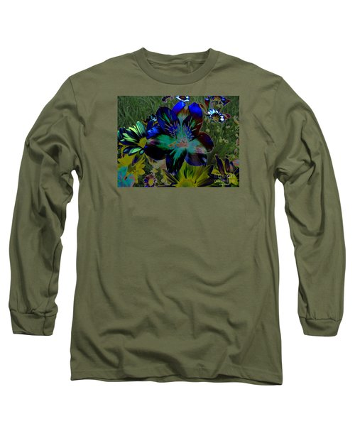 Long Sleeve T-Shirt featuring the photograph Electric Lily by Greg Patzer