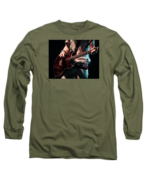Long Sleeve T-Shirt featuring the photograph Electric Rock by Cameron Wood