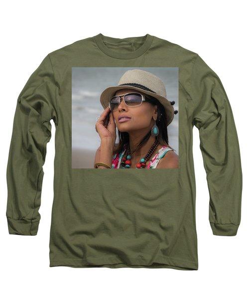 Elegant Beach Fashion Long Sleeve T-Shirt