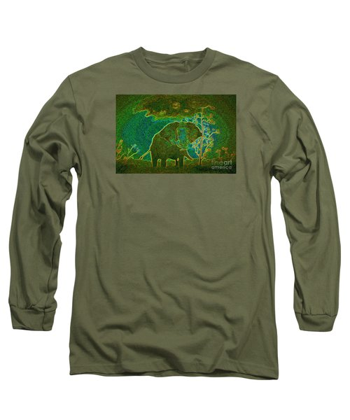 Elephant Abstract Long Sleeve T-Shirt by John Stuart Webbstock