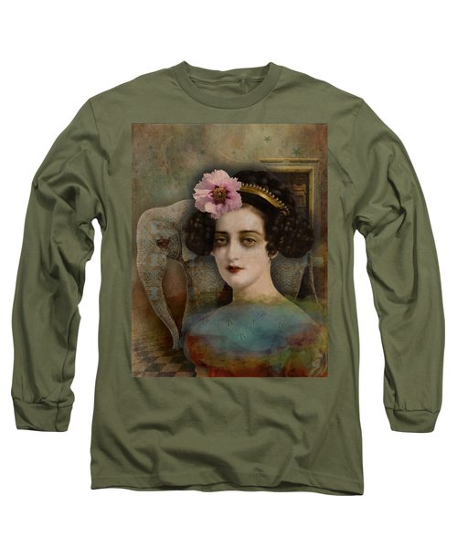 Elephant Dreamer Long Sleeve T-Shirt by Lisa Noneman