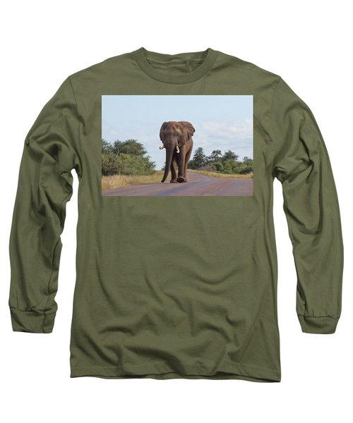 Elephant In Kruger Long Sleeve T-Shirt