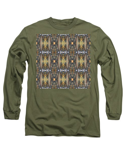 Elephant With Branch Pattern 1 Long Sleeve T-Shirt