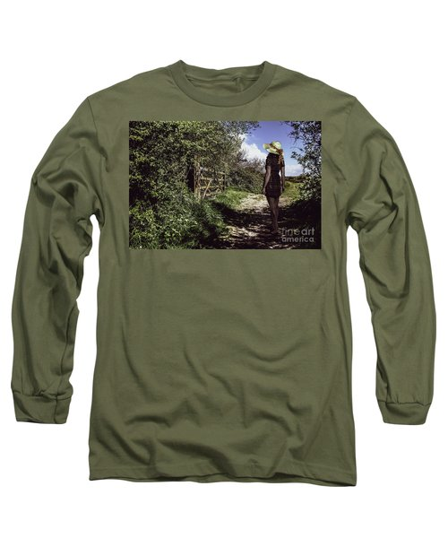 Eliza's Walk In The Countryside. Long Sleeve T-Shirt