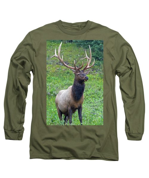 Long Sleeve T-Shirt featuring the photograph Elk 5 by Gary Lengyel