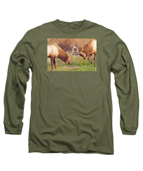 Elk Tussle Too Long Sleeve T-Shirt by Todd Kreuter