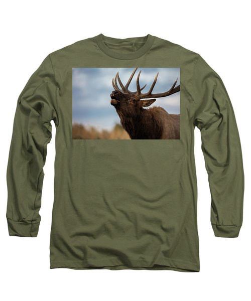 Elk's Screem Long Sleeve T-Shirt by Edgars Erglis