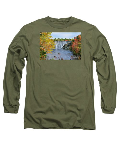 Ellsworth, Maine Dam Long Sleeve T-Shirt by Debbie Stahre